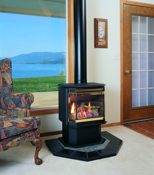 Charmant Columbia Bay Freestanding Gas Fireplace