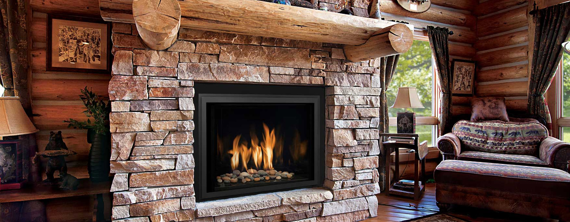 Stone Fireplace Insert - Home Design